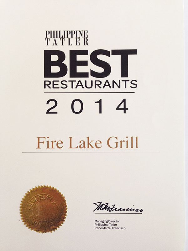 Fire Lake Grill Best Restaurant 2014
